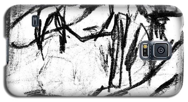 Pencil Squares Black Canine B Galaxy S5 Case