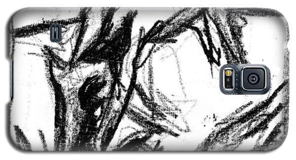 Pencil Squares Black Canine F Galaxy S5 Case