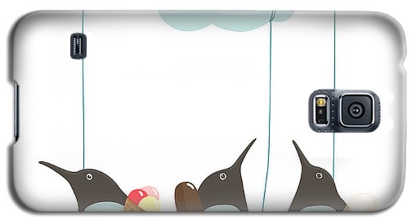 Cold Galaxy S5 Case - Penguins With Ice Cream. Illustration by Popmarleo