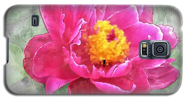 Peony And Bee Galaxy S5 Case