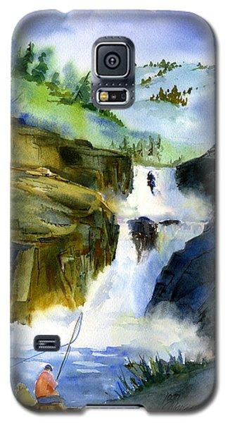 Petroglyph Falls Fishing Galaxy S5 Case