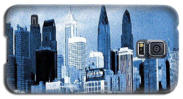 Philadelphia Blue - Watercolor Painting Galaxy S5 Case