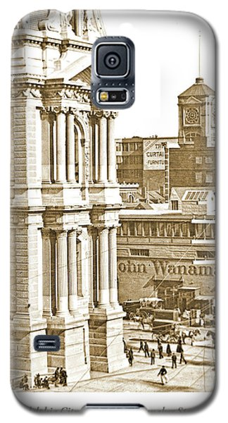 Philadelphia City Hall And Wanamaker Store C 1900 Vintage Photog Galaxy S5 Case