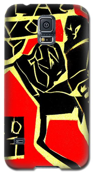 Piano Player Black Ivory Woodcut Poster 31 Galaxy S5 Case