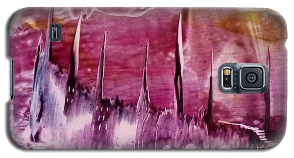 Pink Abstract Castles Galaxy S5 Case