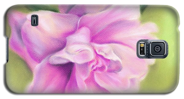 Pink Camellia With Leaves Galaxy S5 Case