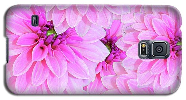 Pink Dahlia Flower Design Galaxy S5 Case