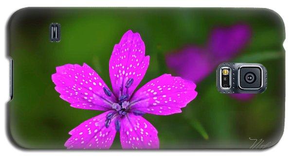 Pink Flower Galaxy S5 Case