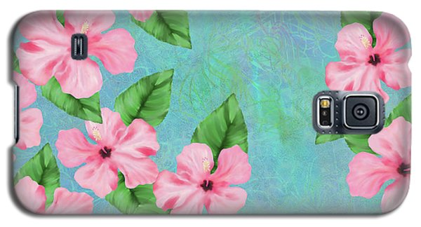 Pink Hibiscus Tropical Floral Print Galaxy S5 Case
