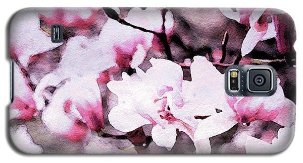 Magnolia Galaxy S5 Case - Pink Magnolia In Watercolor by Susan Maxwell Schmidt