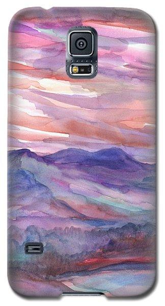 Pink Mountain Landscape Galaxy S5 Case