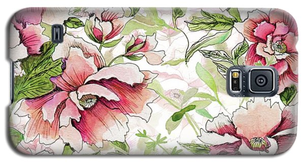 Pink Peony Blossoms Galaxy S5 Case