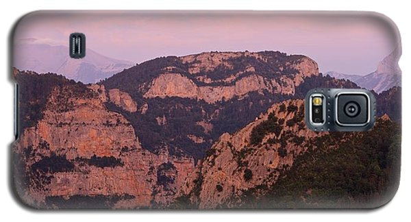 Pink Skies Above Pena Montanesa Galaxy S5 Case