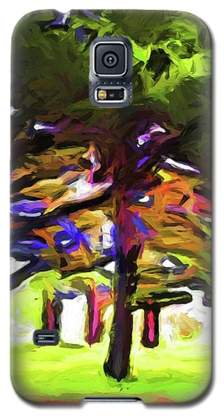 Pink Tree Trunks Galaxy S5 Case