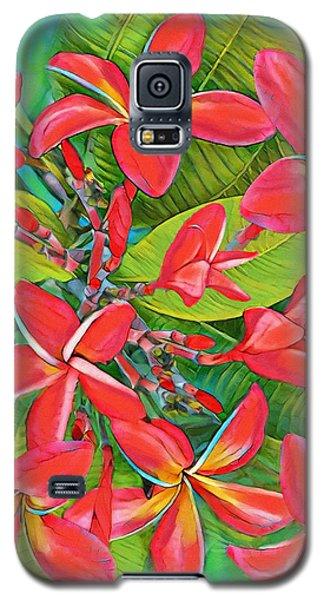 Plumeria Sunburst Galaxy S5 Case