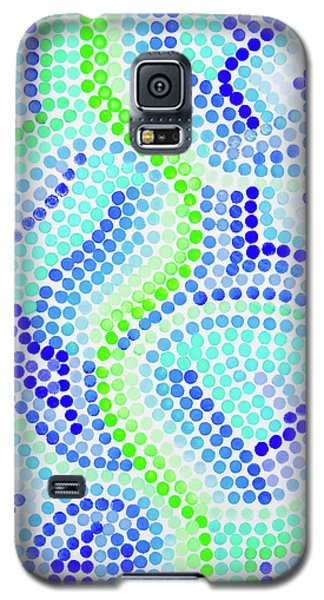 Pointillism On Half A Steroid - Blue And Green Galaxy S5 Case