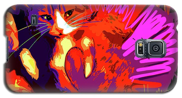 Pop Cat Tiger Galaxy S5 Case
