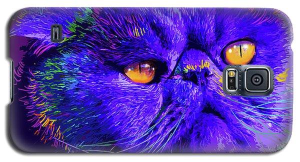pOpCat Captain Blue Chip Galaxy S5 Case