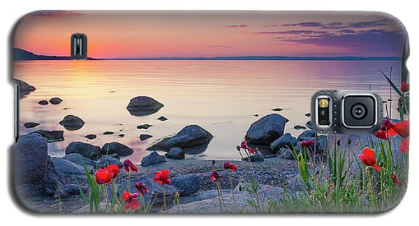 Poppies By The Sea Galaxy S5 Case