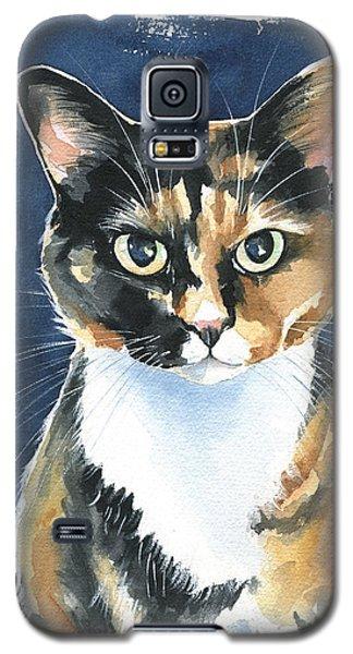 Poppy Calico Cat Painting Galaxy S5 Case
