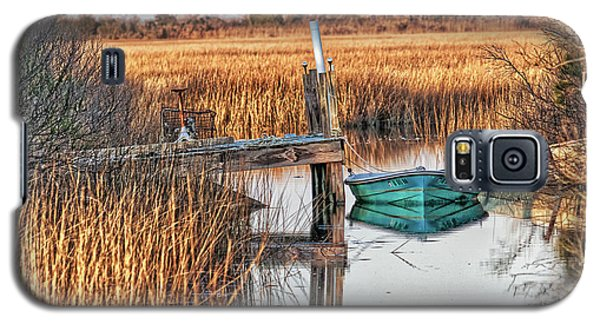 Poquoson Marsh Boat Galaxy S5 Case