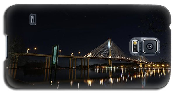 Port Mann Bridge With Blood Moon Galaxy S5 Case