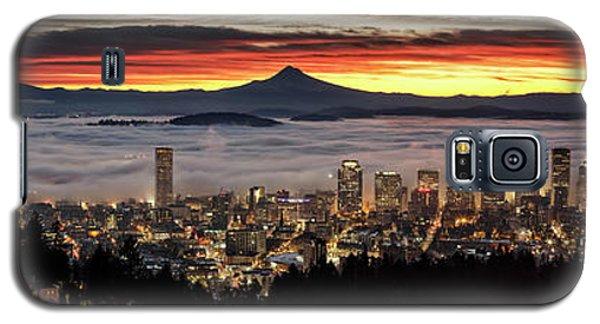 Portland Foggy Sunrise Galaxy S5 Case