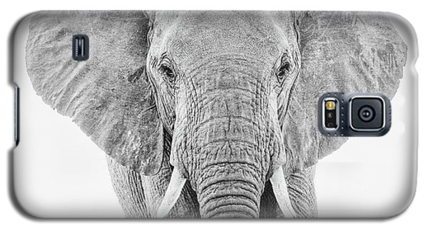 Portrait Of An African Elephant Bull In Monochrome Galaxy S5 Case