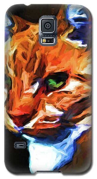 Portrait Of Cat Looking Left Galaxy S5 Case