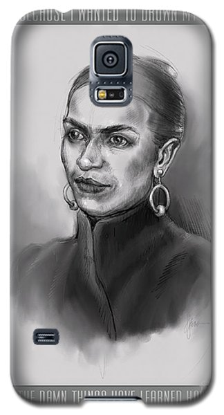 Portrait Of Frida Kahlo Galaxy S5 Case