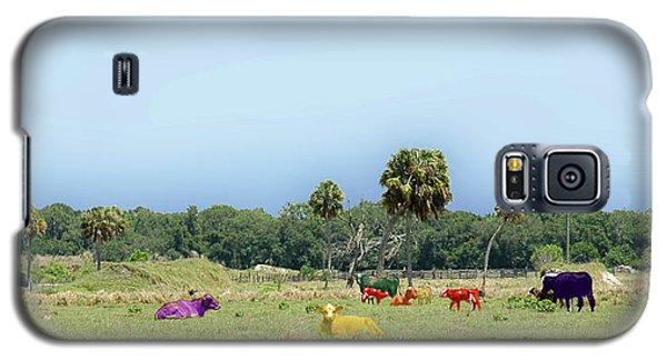 Psychedelic Cows Galaxy S5 Case