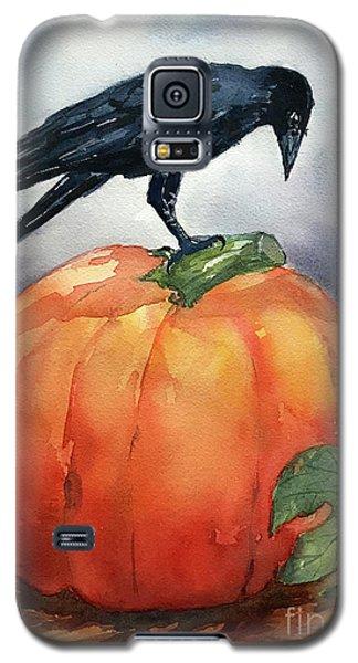 Pumpkin And Crow Galaxy S5 Case