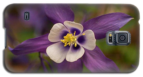 Purple Columbine Galaxy S5 Case