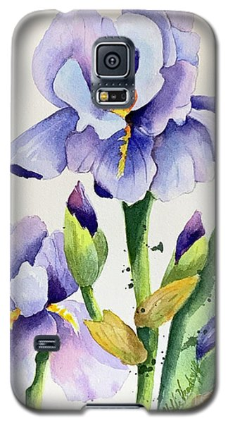 Purple Iris And Buds Galaxy S5 Case