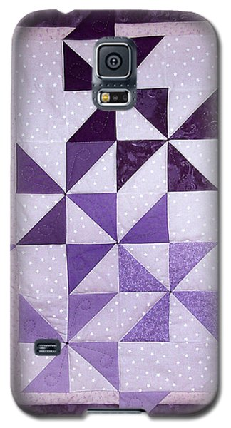 Purple Pinwheels Pirouetting Galaxy S5 Case