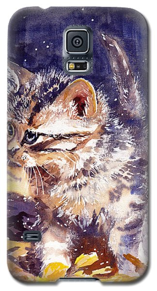 Fairy Galaxy S5 Case - Pussy On A Yellow Blanket by Suzann's Art