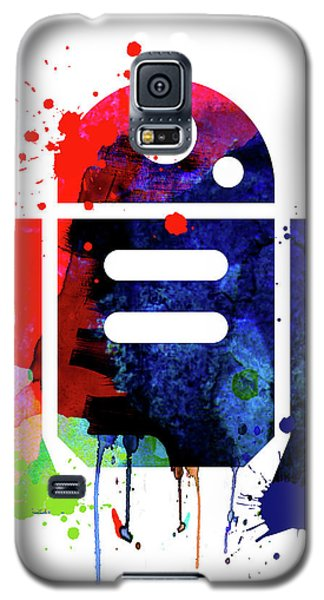 Star Wars Galaxy S5 Case - R2-d2 Cartoon Watercolor by Naxart Studio