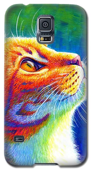 Rainbow Cat Portrait Galaxy S5 Case