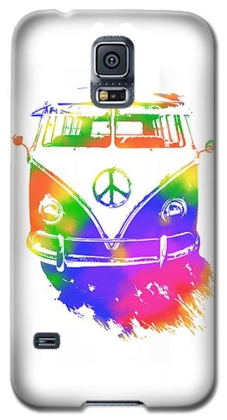 Rainbow Colored Peace Bus Galaxy S5 Case
