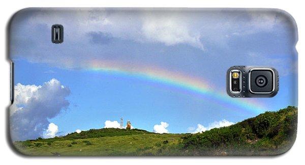 Rainbow Over Buck Island Lighthouse Galaxy S5 Case