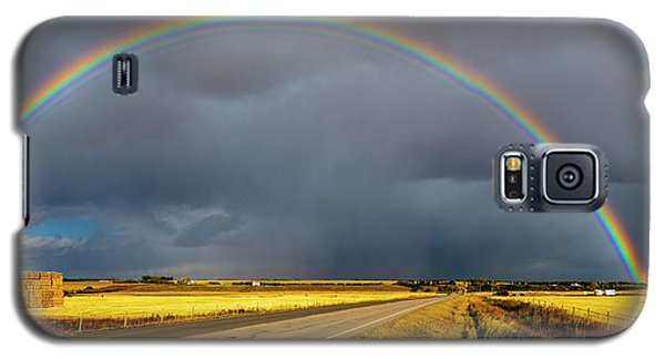Rainbow Over Crop Land Galaxy S5 Case