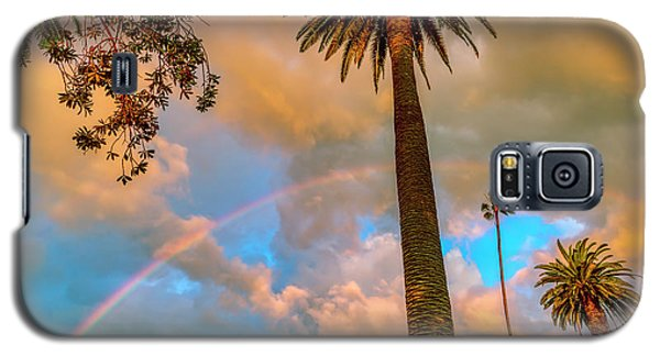 Rainbow Over The Palms Galaxy S5 Case