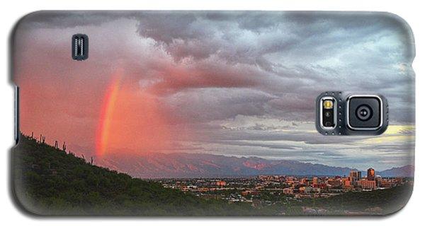 Rainbow Over Tucson Skyline Galaxy S5 Case