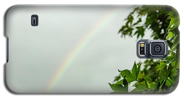 Rainbow With Leaves In Foreground Galaxy S5 Case