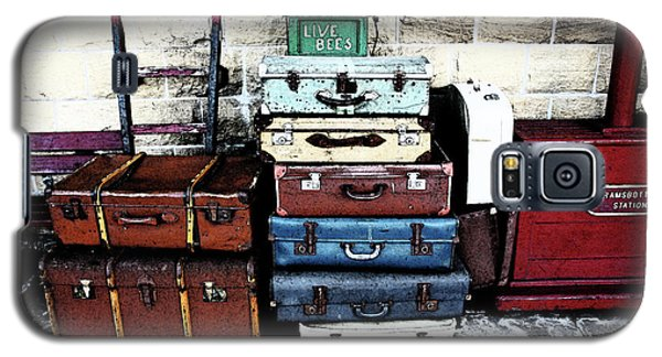 Ramsbottom.  Elr Railway Suitcases On The Platform. Galaxy S5 Case