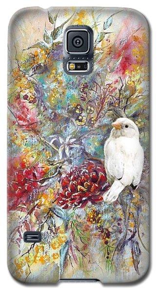 Rare White Sparrow - Portrait View. Galaxy S5 Case