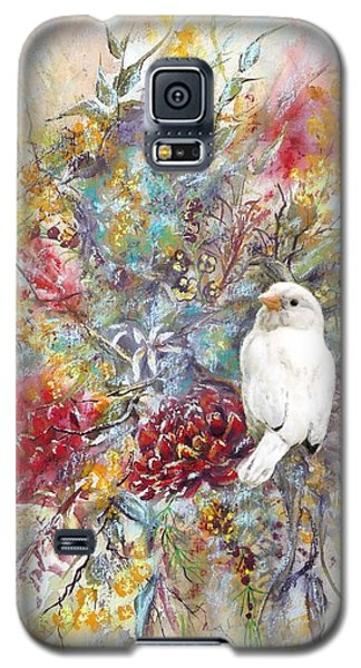 Rare White Sparrow - Portrait View. Galaxy S5 Case