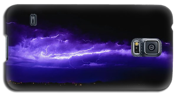 Rays In A Night Storm With Light And Clouds. Galaxy S5 Case
