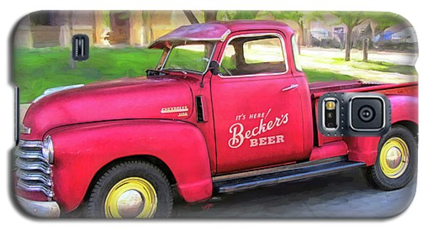 Red 1950 Chevy 3100 Pickup Galaxy S5 Case