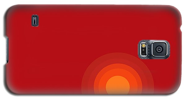 Red Abstract Sunset II Galaxy S5 Case